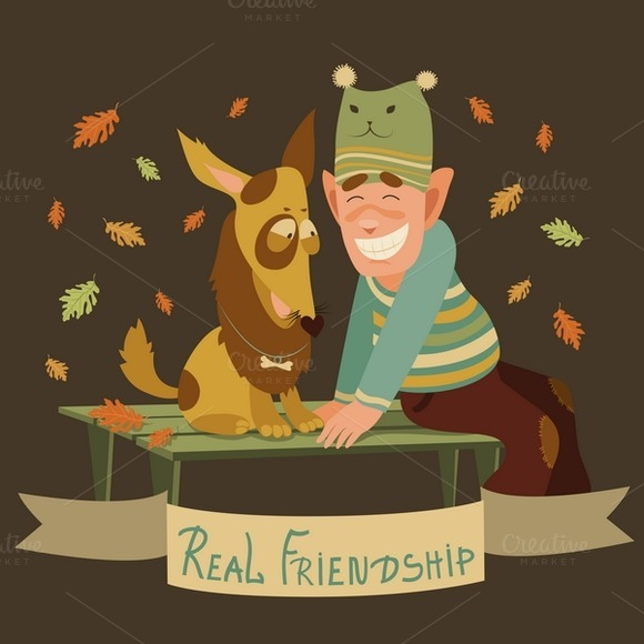 Man And Dog Friendship
