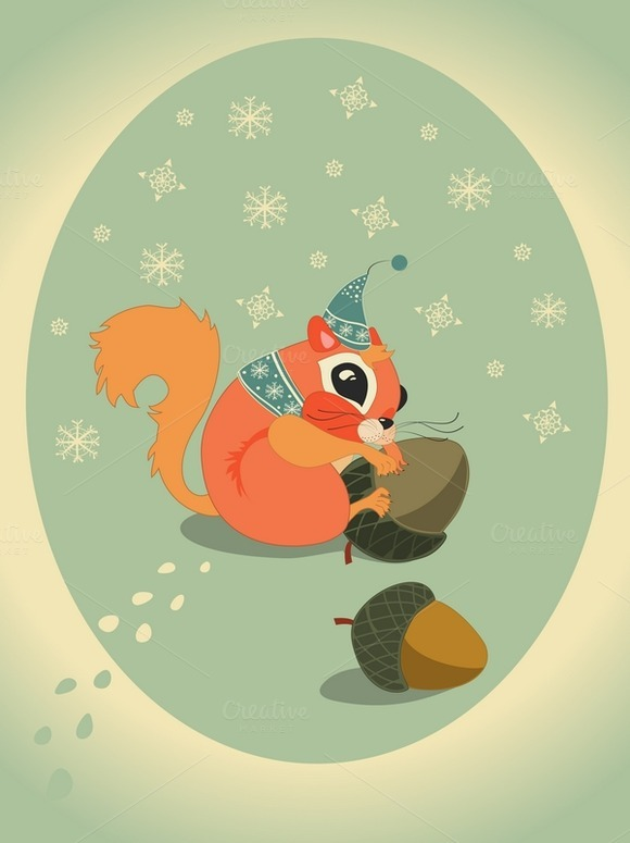Squirell With Acorn