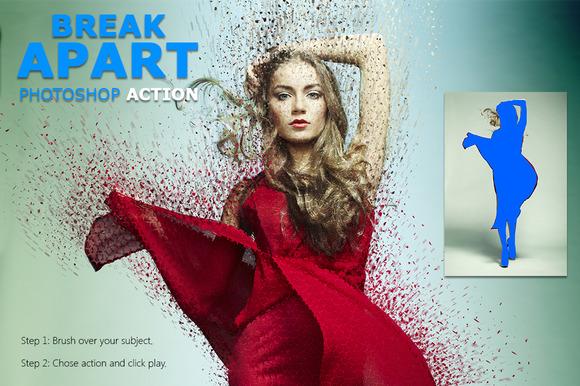 Break Apart Photoshop Action