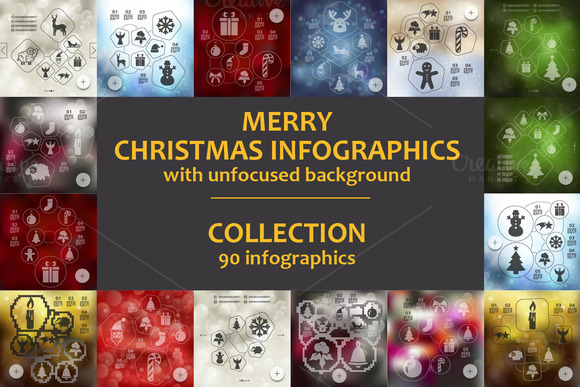 90 MERRY CHRISTMAS INFOGRAPHICS