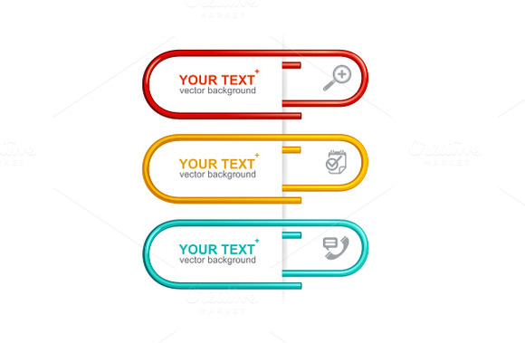 Vector Colorful Clips Option Banner