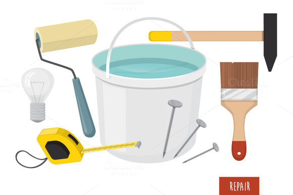 Repair Tools Vector Set
