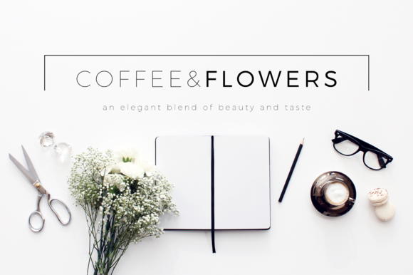 Coffee Flowers Header Image Bundle