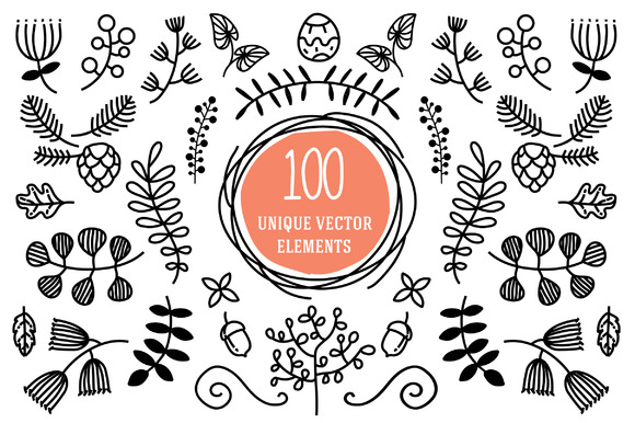 100 Unique Vector Elements