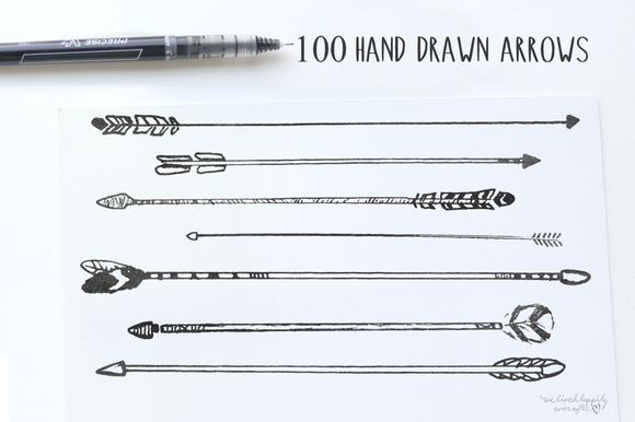Hand-Drawn Tribal Arrows