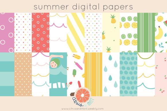 Summer Digital Papers