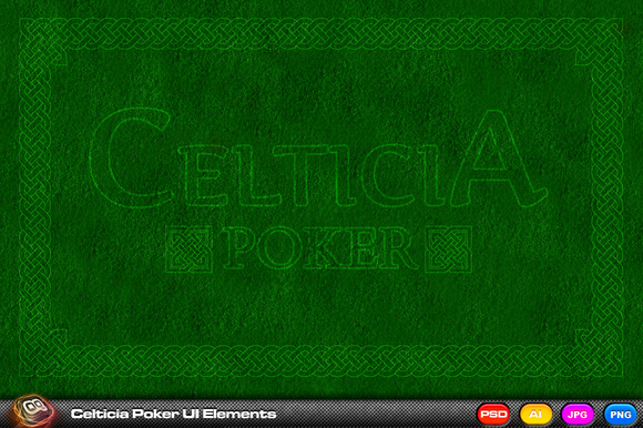 Celticia Poker UI Elements