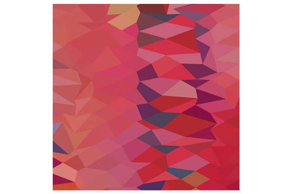 Carmine Pink Abstract Low Polygon Ba