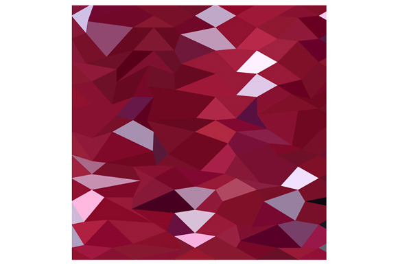 Carmine Red Abstract Low Polygon Bac