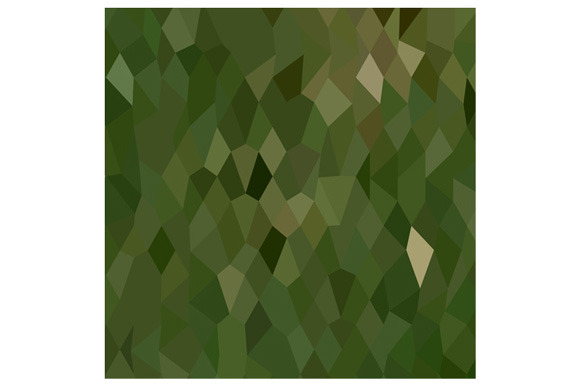Jungle Green Abstract Low Polygon Ba