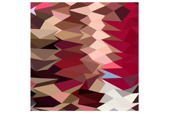 Vermillion Abstract Low Polygon Back