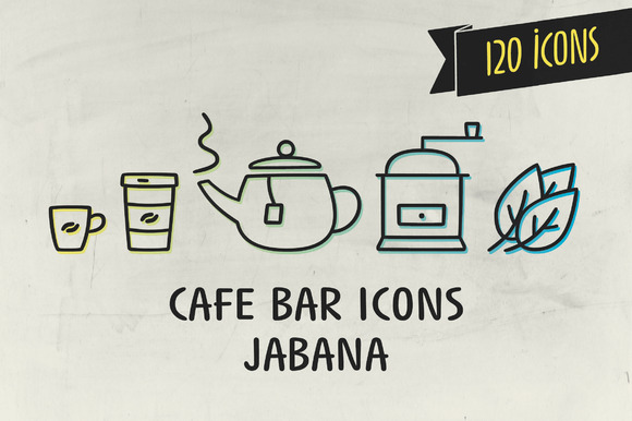Cafe Bar Icons Jabana