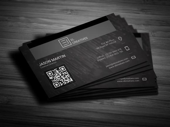 Creative Dark Dotted Business Card