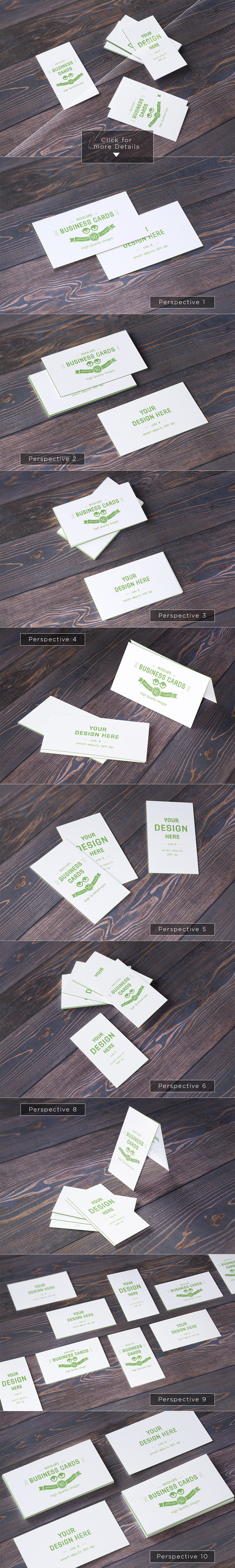 10 Realistic Business Card Mock-up S