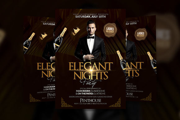 Elegant Party Flyer Template