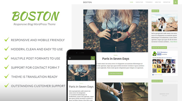 Boston Responsive Blog Theme