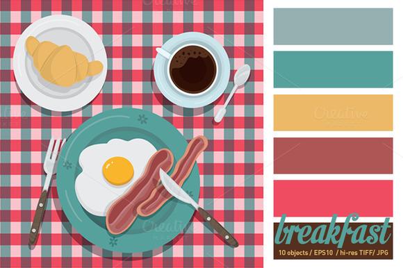 Breakfast Vector Illustration