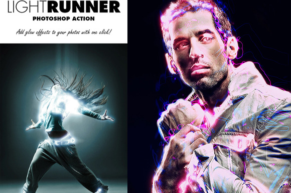 Light Runner Photoshop Action