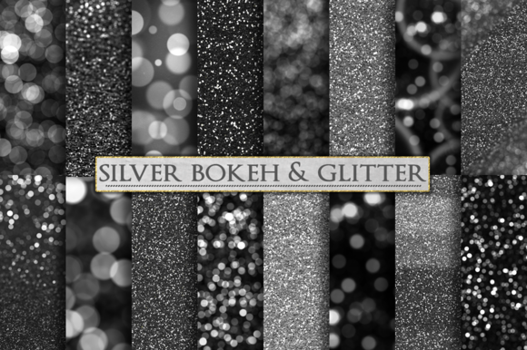 Silver Glitter And Bokeh Backdrops
