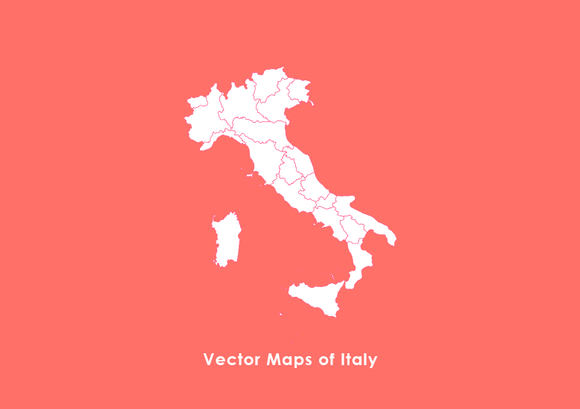 Vector Maps Of Italy