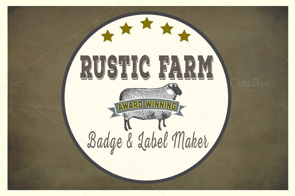 Rustic Farm Easy Badge Label Maker