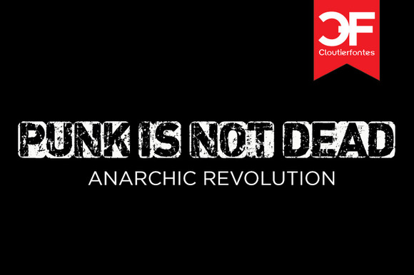 CF Punk Is Not Dead Font