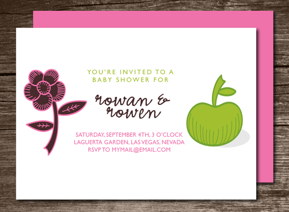 Baby Shower Invitation Apple