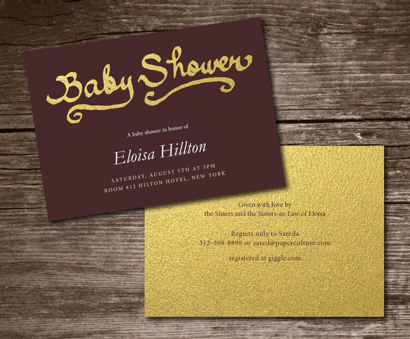 Baby Shower Invitation Handwritten