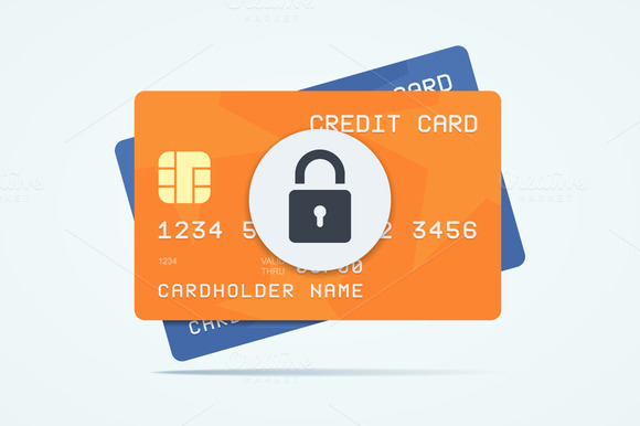 Credit Cards With Padlock