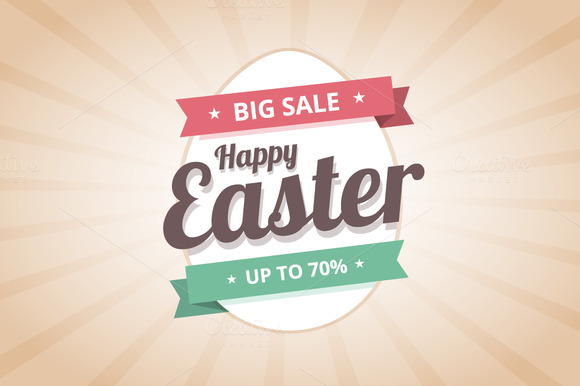 Happy Easter Sale Illustration
