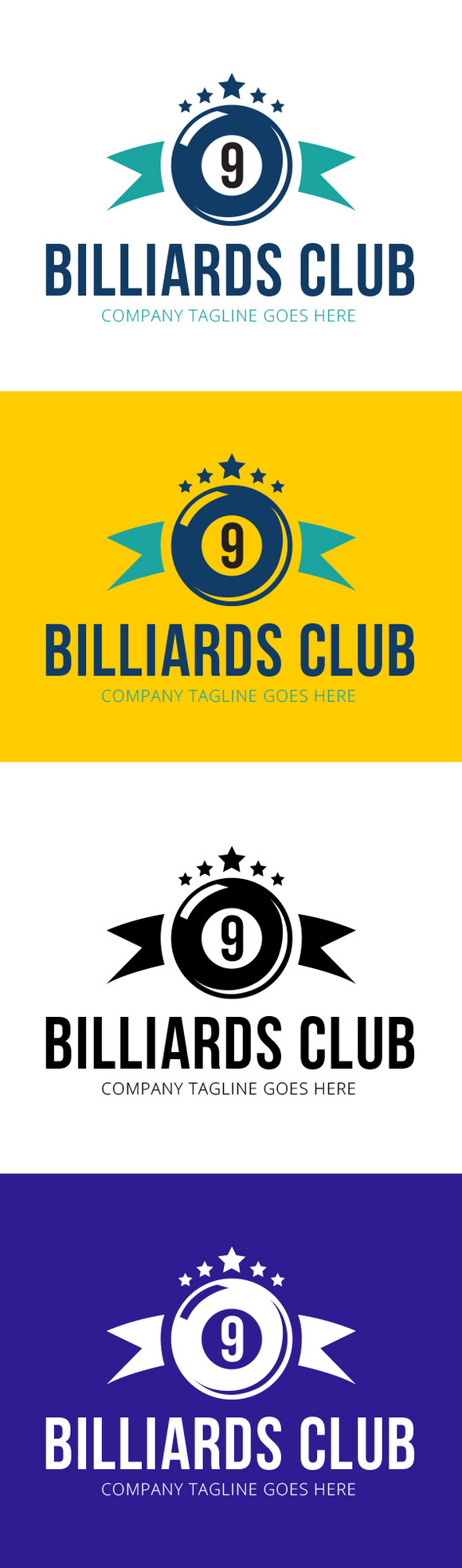 Billiards Club Logo Template
