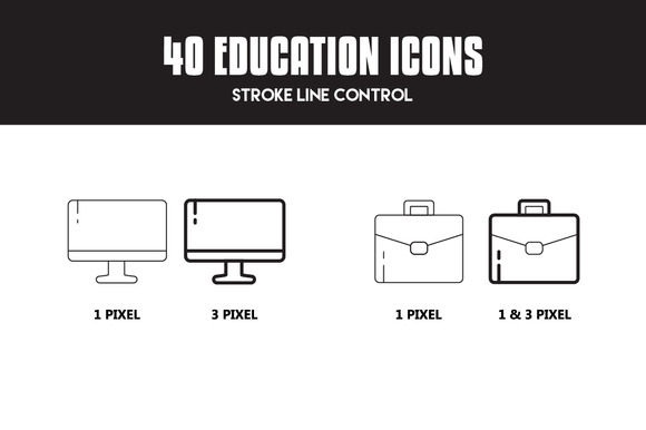 40 Education Icon Set