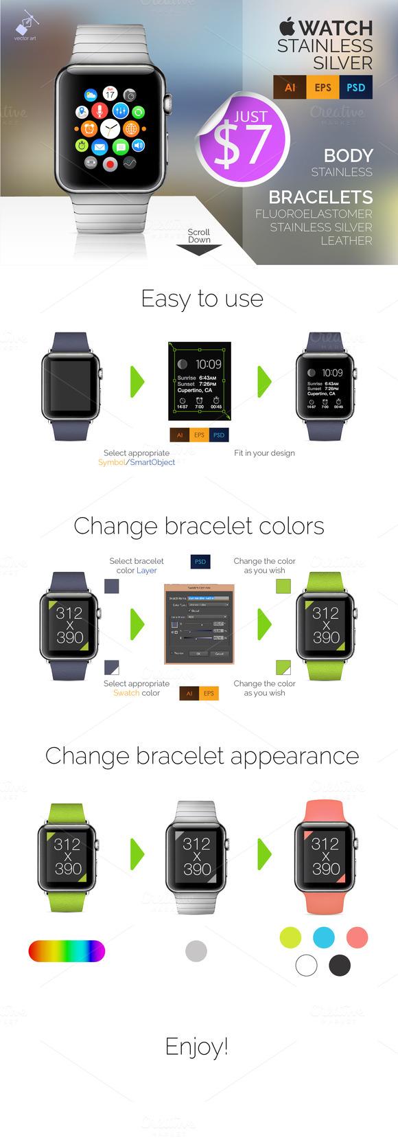 Apple Watch Mockup.vector