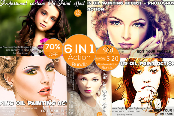 Pro Oil Paint Actions Bund