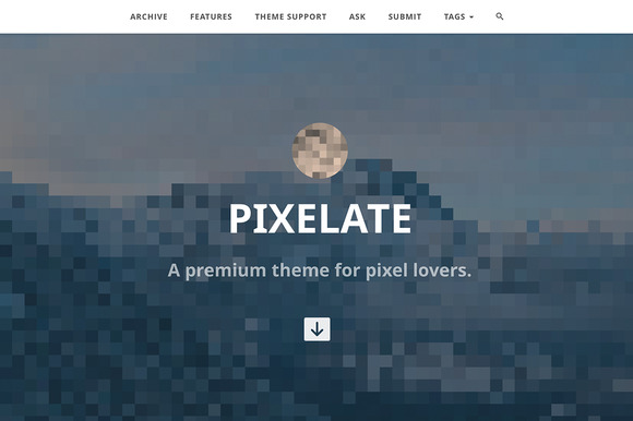 Pixelate Tumblr Theme
