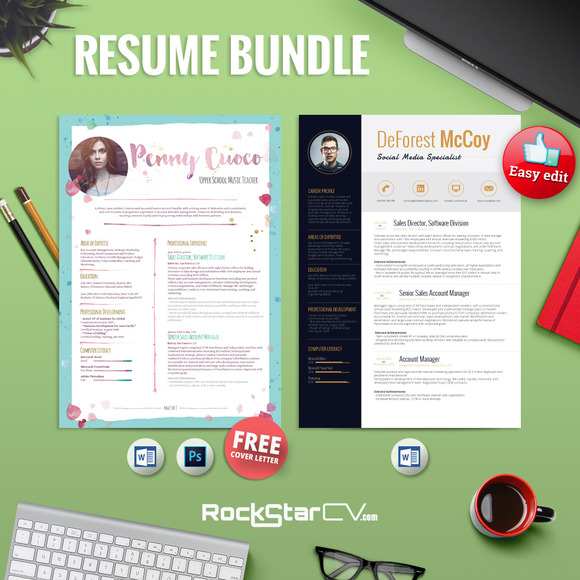 2Resume Templates FREE CoverLetter