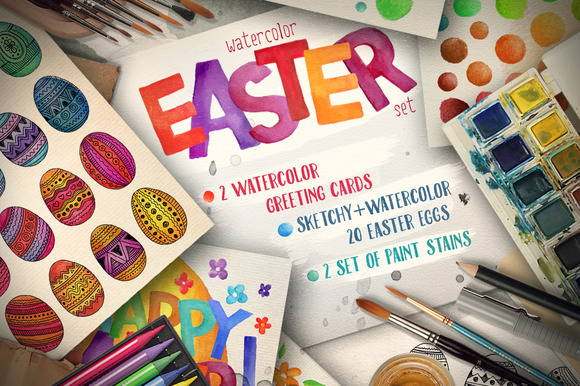 Easter Watercolor Pack
