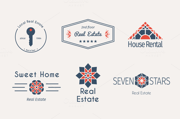 6 Real Estate Logo Templates