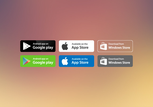 28 App Store Vector Buttons
