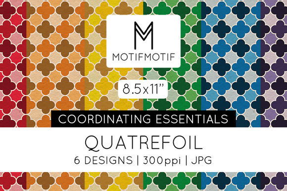 8.5x11 Quatrefoil Digital Papers