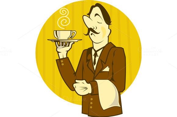 Cartoon Waiter