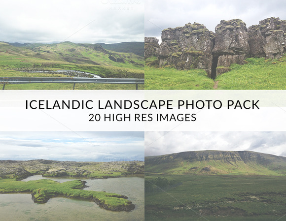 Icelandic Landscape Photo Pack