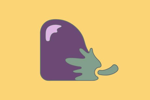 Stylized Eggplant Flat Icon