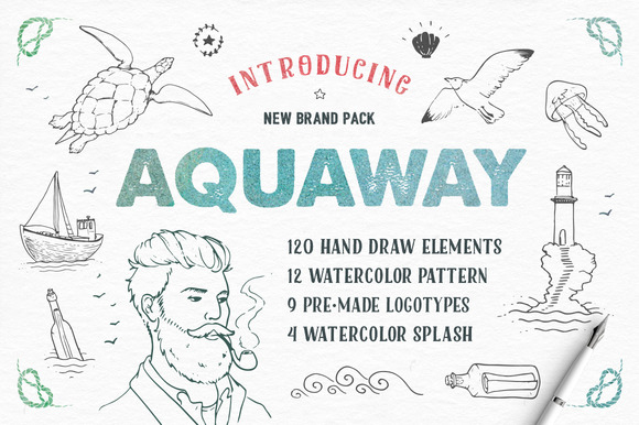 AquaWay Watercolored Vector Pack