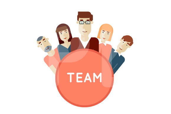 Project Team Avatars Flat Design