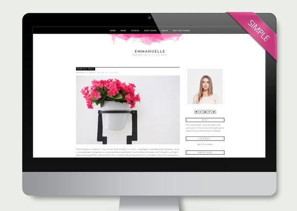 Emmanuelle Feminine Wordpress Blog