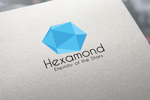 Hexamond- Blue Diamond Logo