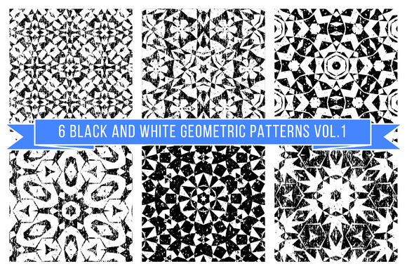Set Of Black And White Patterns 1