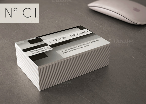 Classic Business Card Black And Whi