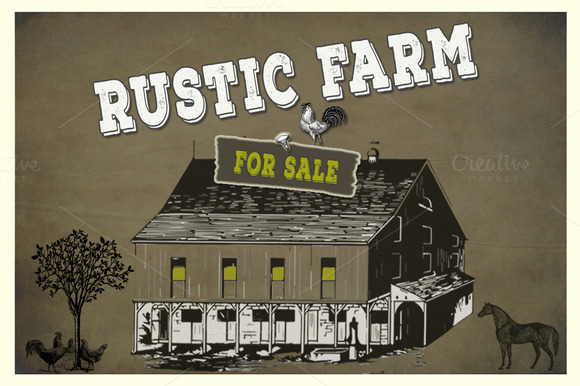 Rustic Farm Vector PNG Elements